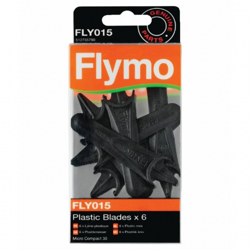 Flymo FLY015 Plastic Blades x 6 Micro Compact 30 Part Number 512755790